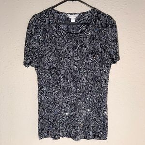 NWOT Christopher & Banks Layered Blouse L